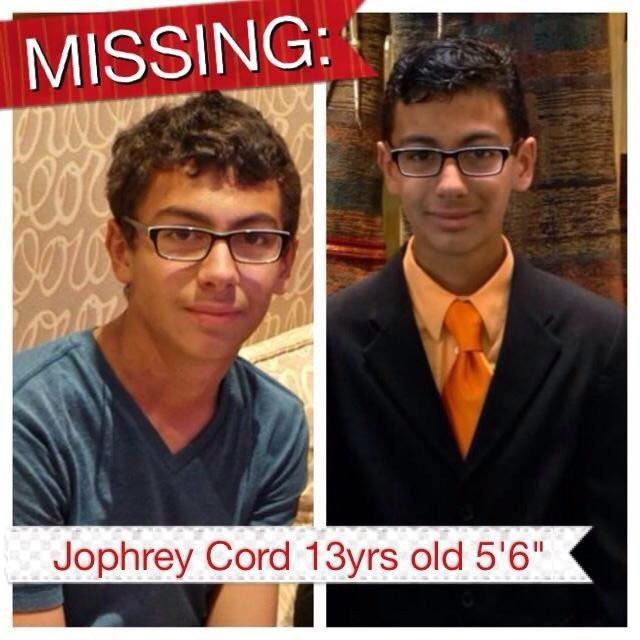 Jophrey Cord was last seen Monday morning. (Source: Adam Cohen)