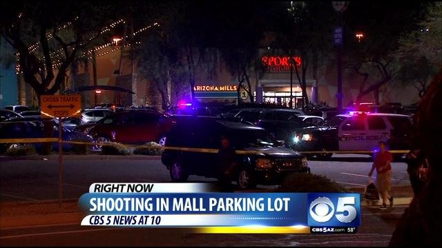 Shootout in parking lot at Arizona Mills Mall in Tempe. (Source: CBS 5 News)