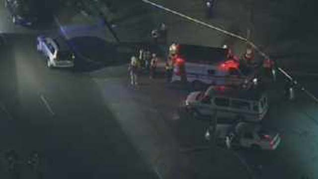 © Deadly hit-and-run accident in the 7500 block of W. Glendale Avenue. (CBS 5 News)