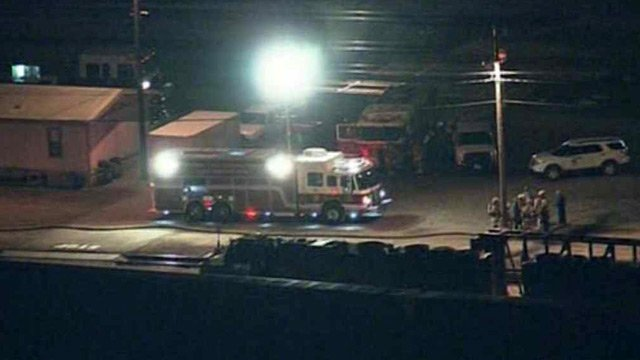 A rail tanker was leaking highly flammable ethanol at a Phoenix rail yard Friday morning. (Source: CBS 5 News)