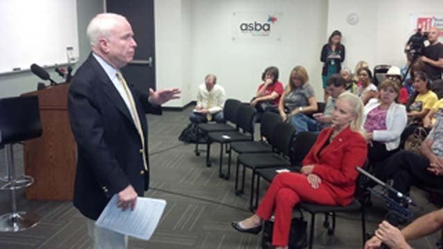 Arizona Sen. John McCain. (Source: CBS 5 News)