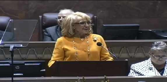 Gov. Brewer giving her State of the State Address on Jan. 13, 2014.