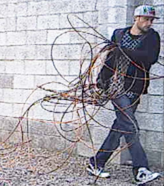Surveillance picture of suspected copper thief. (Source: Silent Witness)