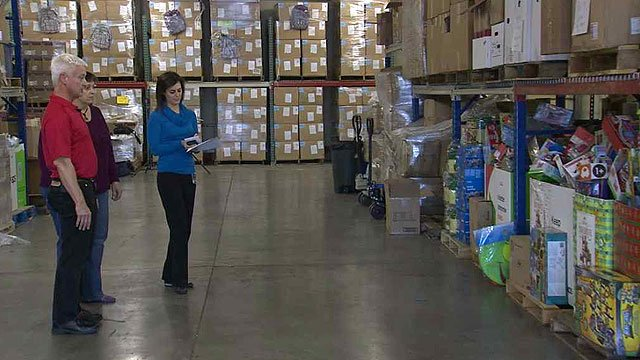 Arizona Helping Hands has a warehouse stocked full of items to help foster families. (Source: CBS 5 News)