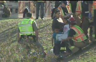 Crash scene on I-17 near Thomas Rd.