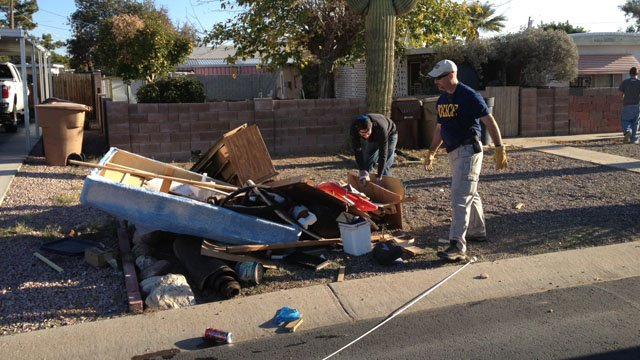 A recent neighborhood cleanup in the area.  (Source: Peoria Police Department)