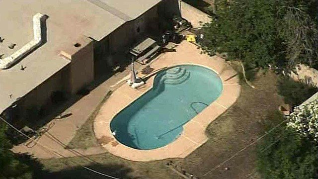 A 1-year-old boy was found in this backyard swimming pool of a Mesa home by his aunt Tuesday morning.