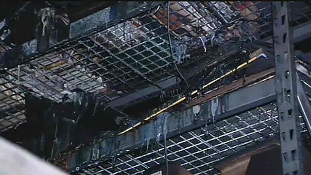 Most of the damage occurred in a loft area containing parts.