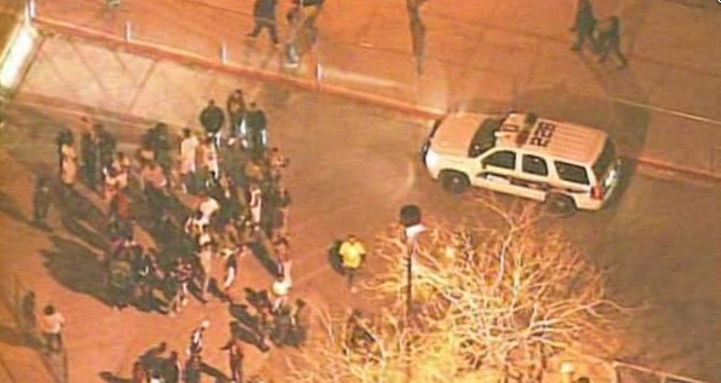 Shooting outside Cesar Chavez High School Friday night. (Source: CBS 5 News)