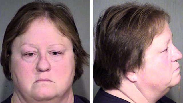 Maria Valenzuela was arrested Wednesday on the same animal abuse-related charges as her son. (Source: Maricopa County Sheriff's Office)