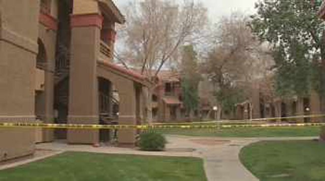 Kitchen fire in an apartment in the 7700 block of N. 51st Avenue in Glendale. (Source: CBS 5 News)