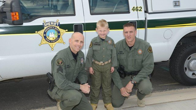 Moses has always admired law enforcement and SWAT Team members. (Source: Pima County Sheriff's Department)