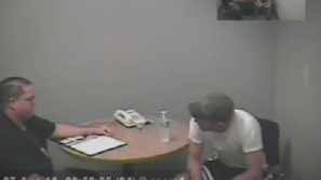 Former Phoenix Police Det. Christopher Wilson being interrogated. (Source: Phoenix Police)