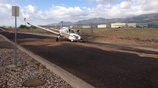 A pilot from Oklahoma mistook Airpark Road for the Cottonwood Airport runway and collided with this fence late Monday night.
