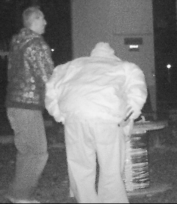 2 suspected copper thieves caught on surveillance camera. (Source: Silent Witness)