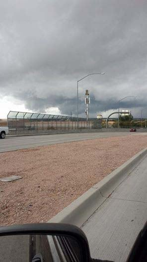 Viewer submitted photo taken at Power & McDowell roads on Saturday. (Source: Ken Wineberg)