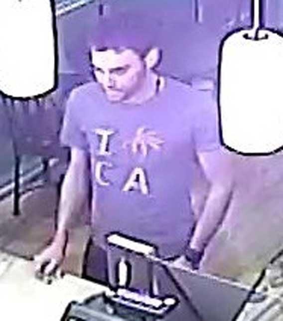 Surveillance images of suspect robbing Gigi's Cupcakes in Phoenix. (Source: Silent Witness)