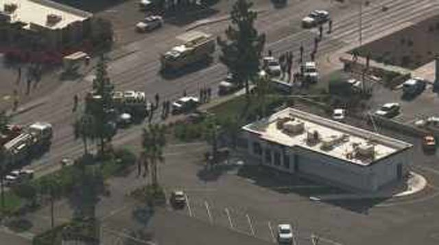 There was a heavy police presence at 43rd Avenue and Bethany Home Road. (Source: CBS 5 News)