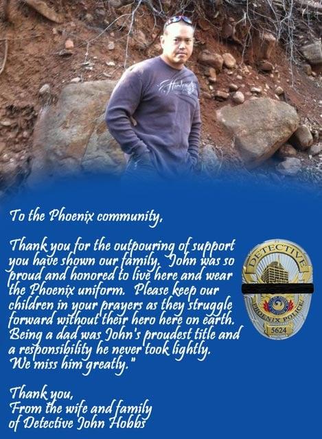Statement from John Hobbs' family