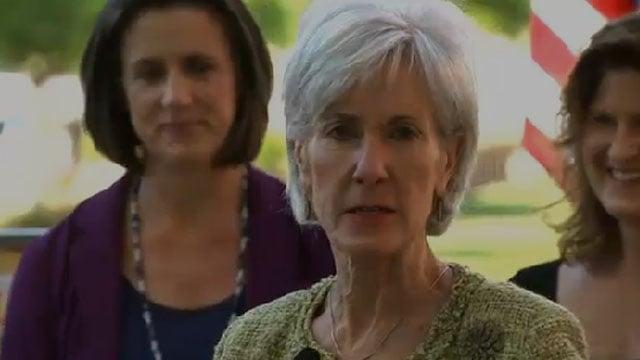 Secretary of Health and Human Services Kathleen Sebelius in Phoenix Wednesday.