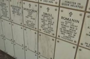Painted and unpainted plaques at the National. Memorial Cemetery of AZ.