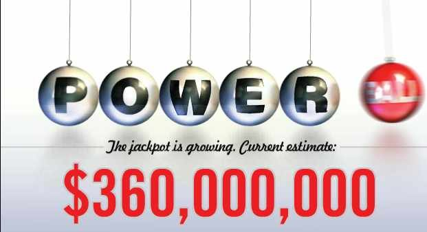 Powerball jackpot estimated at $360 million