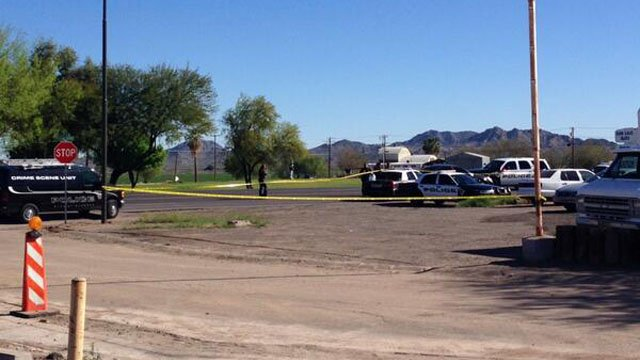 Scene of the shooting in Buckeye. (Source: Allyson Blair, cbs5az.com)