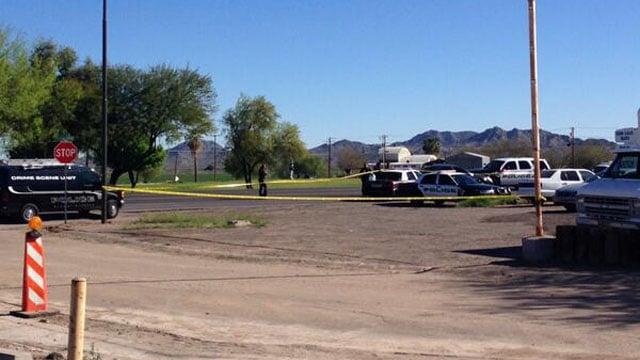 Scene of the shooting in Buckeye. (Source: Allyson Blair, cbs5az.com)