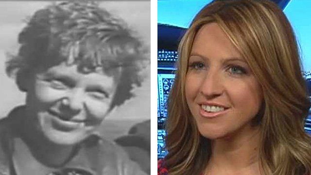 The first aviatrix Amelia Earhart, left, and today's version. (Source: CBS 5 News)