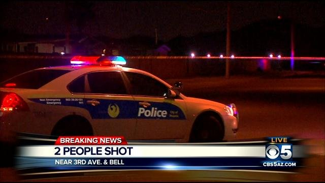 Phoenix shooting leaves two people wounded. (Source: CBS 5 News)