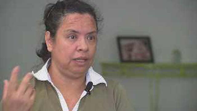 Nohemi Harding, the victim's widow, speaks to CBS 5 News. (Source: CBS 5 News)