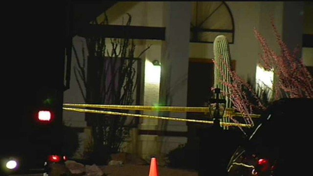 A man was found shot to death in front of this Gilbert home Thursday night.