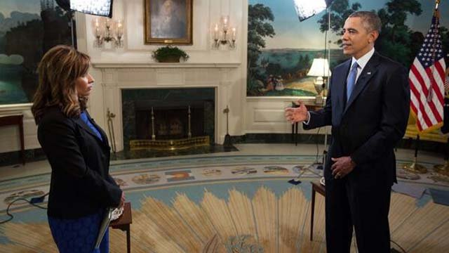 CBS 5 News anchor Catherine Anaya was one of a handful of acnhors invited to interview President Obama at the White House. (Source: Catherine Anaya)
