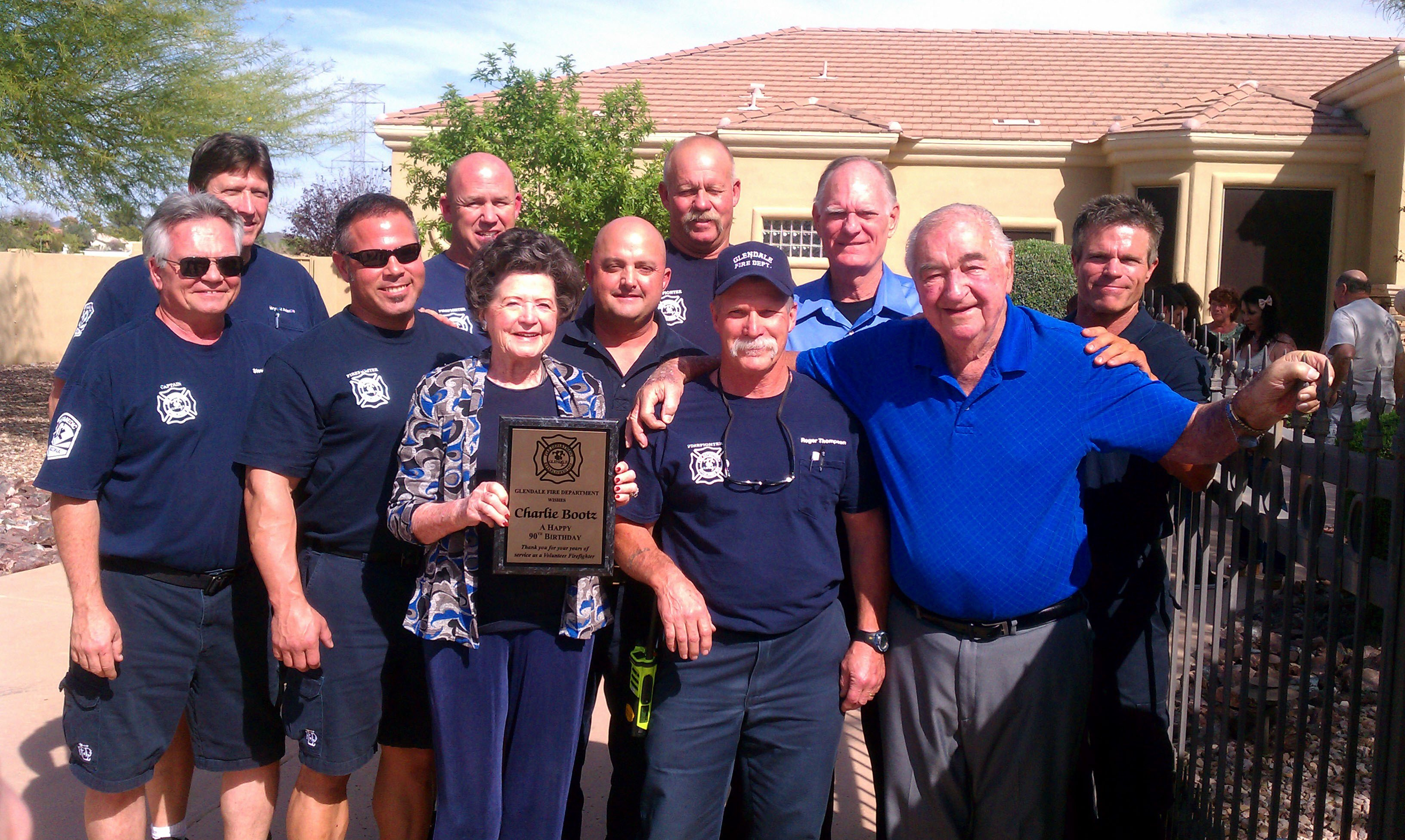 The Glendale Fire Department honored Charlie Bootz, who turned 90 on Sunday. (Source: Glendale Fire Department)