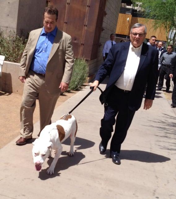 Sheriff Joe Arpaio took custody of Mickey Thursday afternoon. (Source: CBS 5 News)