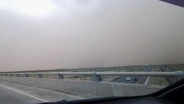 Viewer photo of the dust storm in Casa Grande. (Source: Blanca N Willy Valenzuela)