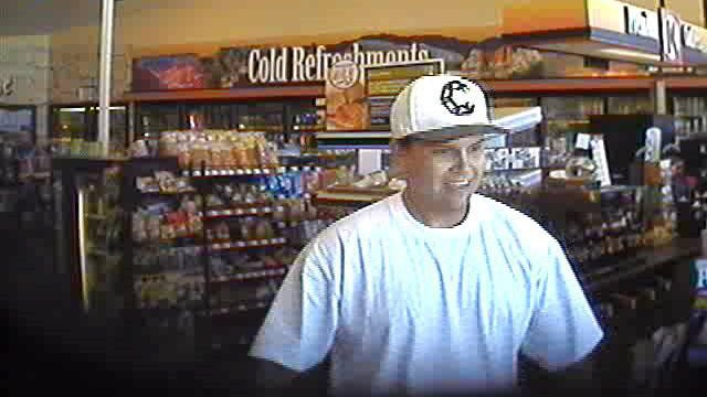 Circle K surveillance image of suspect in beer run thefts. (Source: Phoenix Police Department)