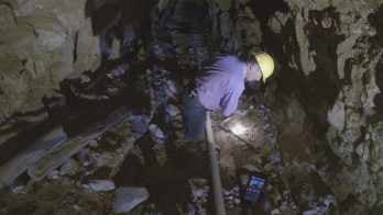 The mine is said to be haunted by the Blue Devil Ghost. (Source: CBS 5 News)