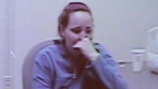 Devault during police interview (Source: CBS 5 News)