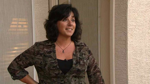 """I always know I'm being watched. I always know I'm being watched,"" says homeowner Elaine Migala. (Source: CBS 5 News)"