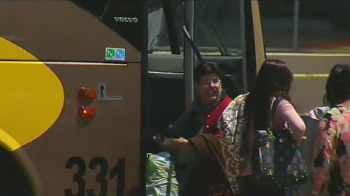 No one aboard the bus was injured. (Source: CBS 5 News)