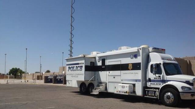 Mesa police investigating the incident at Poston Jr. High School. (Source: Sgt. Tony Landato)