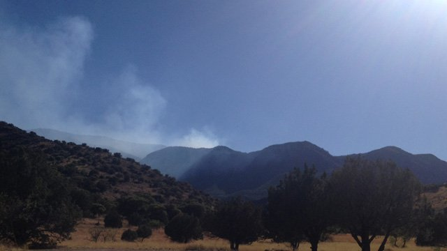 The Brown Fire is burning in a mix of timber and brush. (Source: Cochise County Sheriff's Office)