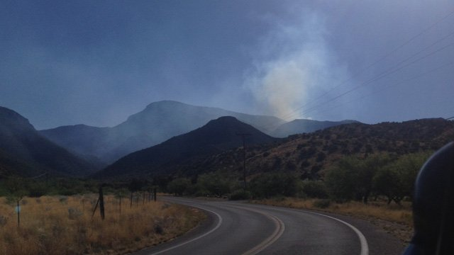 It erupted Sunday afternoon.  (Source: Cochise County Sheriff's Office)