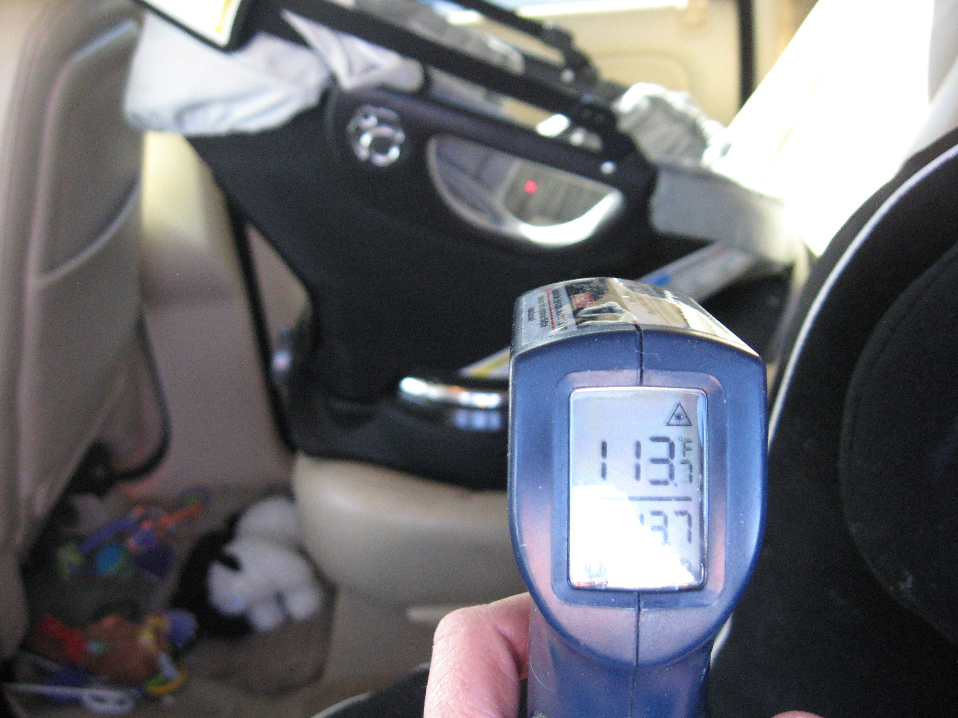 The infant car seat was 113 degrees, police said. (Source: Tempe Police Department)