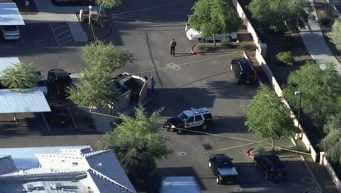 MCSO investigating body found in car.  (Source: CBS 5 News)