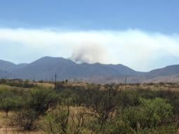 The Brown Fire is burning in the Huachuca Mountains in southeastern Arizona. (Source: U.S. Forest Service)