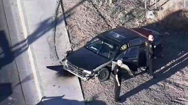 Officers found more than 300 pounds of marijuana in this car in Maricopa. Two men who fled the car were caught by Maricopa police.