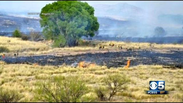 The fire is burning on a large ranch in southeastern Arizona. (Source: Nogales International)