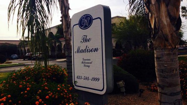 The Madison in Sun City West, where an illness sent some residents to the hospital. (Source: Allyson Blair, cbs5az.com)